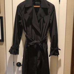 Chic black trench coat
